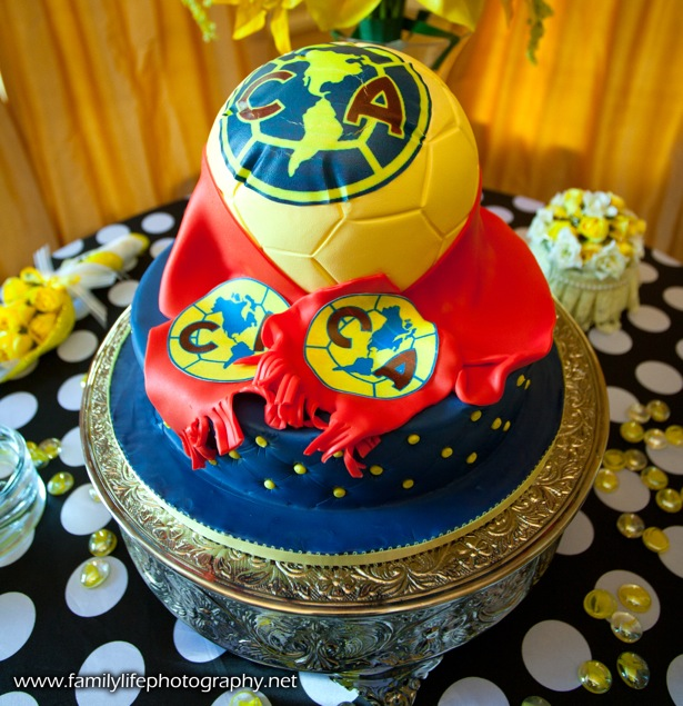 Club America Soccer Ball Cake