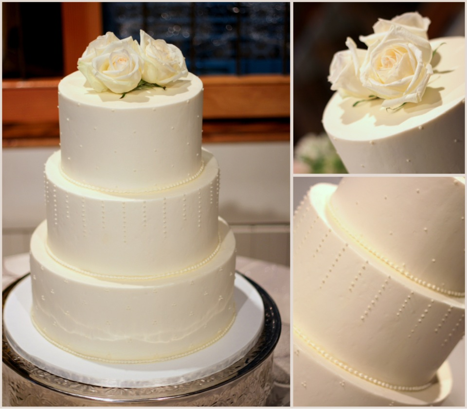delicate dot wedding cake