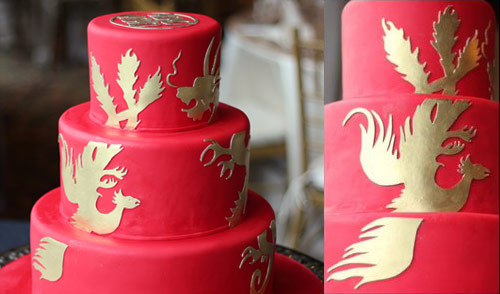 Double Happiness With Dragon And Phoenix Wedding Cake   Ambrosia Cake  Creations