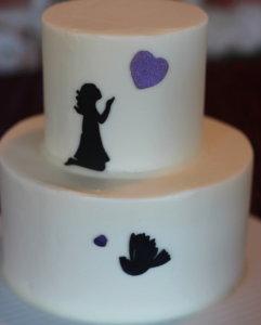 Mini Silhouette cake