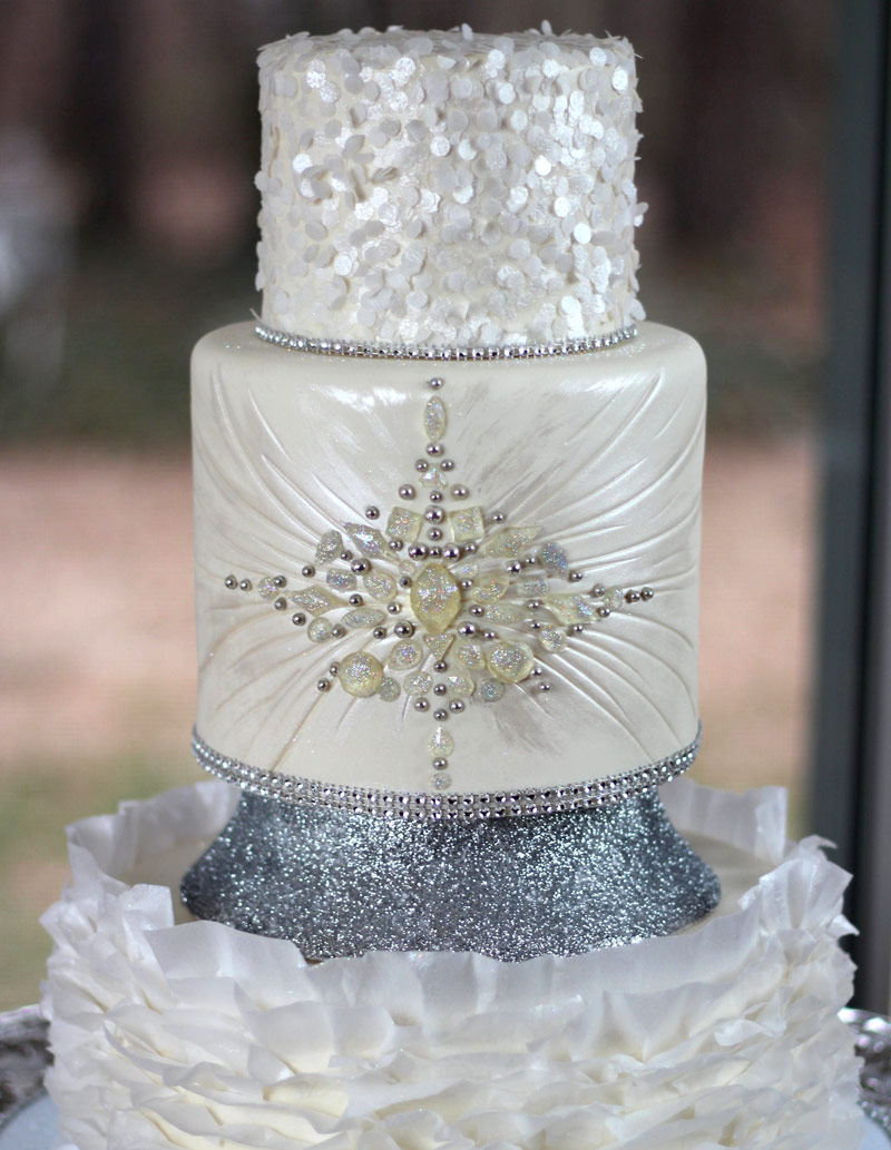 Jewelled Wedding Cakes