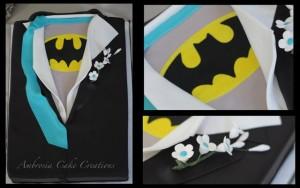Batman Tuxedo Shirt Cake