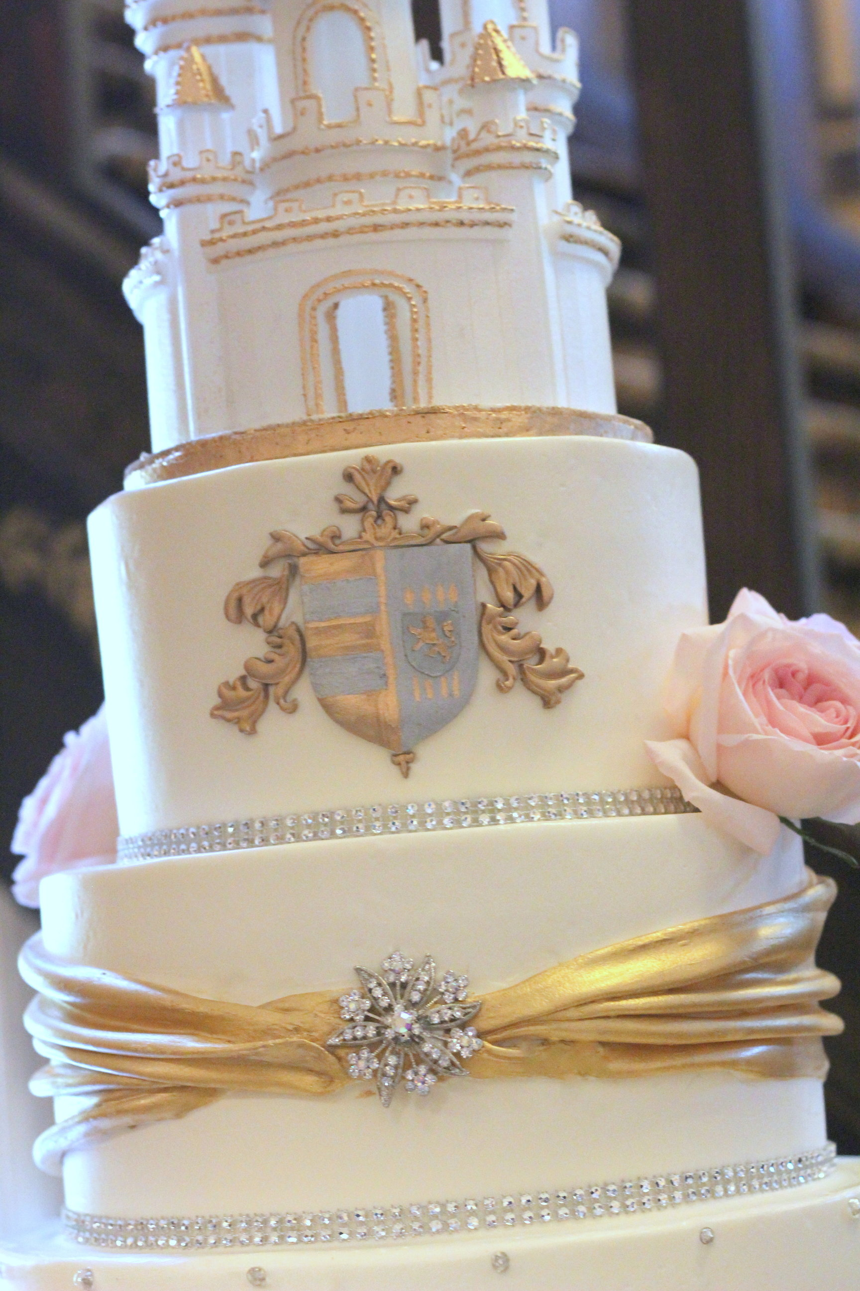 Castle Wedding Cake – Ambrosia Cake Creations